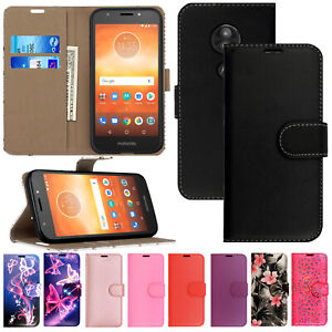 Case For Motorola Moto G G7 Power G8 G6 Play E5 Slim Leather Flip Wallet Cover
