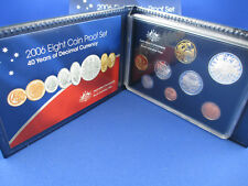2006 Australia Eight Coin Proof Set - 40 Years of Decimal Currency - RAM -