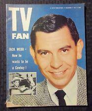 1954 Dec TV FAN Magazine G/VG 3.0 Jack Webb Cover