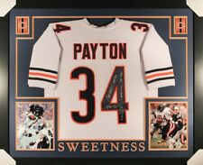 """Walter Payton #34  (Autographed) Chicago Bears (35""""x 43"""") Custom Framed Jersey"""