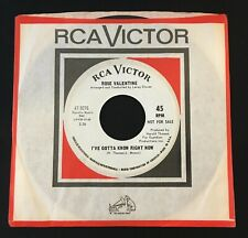 Northern Soul 45 ROSE VALENTINE i've gotta know right now RCA VICTOR listen