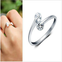 925 Silver Plated ring finger women lady Ring opening Adjustable GIFT New