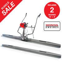 Power Screed Honda GX35 12 ft & 10 ft Blades Bull Float Concrete Finishing Tool