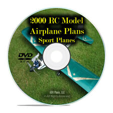 2,000 Remote Control RC Radio Model SPORT Aircraft Plans, Scale, Guides DVD I26