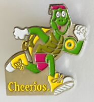Cheerios 1992 Running Turtle Breakfast Cereal Advertising Pin Badge Rare (J7)