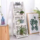 Foldable Ladder Bookshelf Rack 4 Tier Vintage Plant Stand Display Shelf Storage