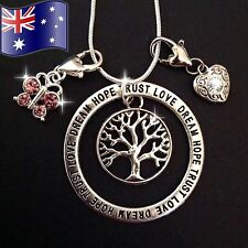 Tree of Life Inpirational 925 Sterling Silver Chain Pendant Charm Necklace Gift