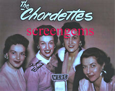 "The Chordettes signed photo Lynn Evans ""Mister Sandman"" and ""Lollipop"" harmony"