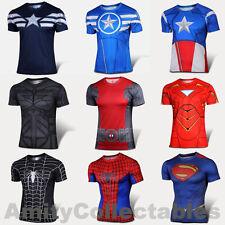 SUPERHERO SHORT SLEEVE SPORTS T-SHIRT Costume, Cycling, Football, Jersey