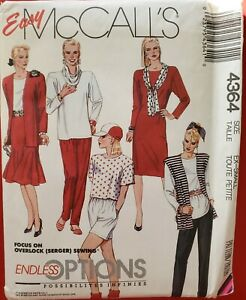 McCall's Endless Options pattern 4364 Misses' Jacket, Dress, Tops sz 6 - 8 uncut