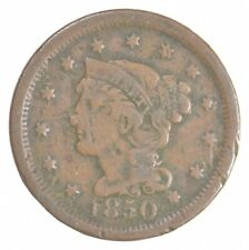 Better 1850 Braided Hair US Large Cent Penny Coin Collection Lot Set Break *468