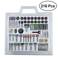 216PCS Rotary Drill Tool Accessories Bit Set Polishing Kits For Dremel Grinding