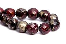 4MM Natural Dark Red Pyrite Beads Grade AAA Faceted Round Loose Beads 7.5""