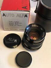 RARE Alpa Camera Auto-Alpa 50mm f:1.7 Macro 1:3 Multi-Coated Lens M42