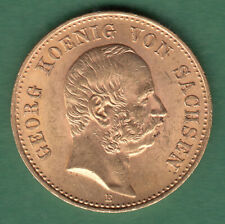 20 Mark 1903 E  Georg König von Sachsen Jäger 266 Gold Original