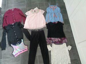 girls clothes bundle-7-8 yrs, RI leggings,playsuit,2 cardigans+ 4 tops-1 bnwt