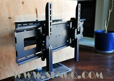 QCQK High quality! Flat Screen TV Mount Dual Arm Wall Mount Bracket For 32-63""