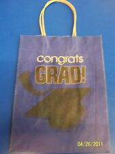 Congrats Grad Graduation Banquet Party Cub Kraft Paper Medium Gift Bag - Blue
