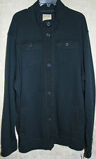 NWT Sonoma long sleeve Jacket button front Blue Super Soft mens Cotton 4 pocket