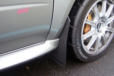 Rally Armor 02-07 Subaru WRX /STI /RS /2.5​i Classic Mud Flaps Kit w/ BLACK Logo