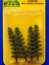 Alberi di conifere per modellismo verde medio 4 pz. H. cm. 8 HO 1/87 - Krea