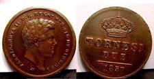 NAPOLI FERDINANDO II 2 Tornesi 1857 SPL   sig/perz.to