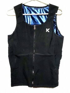 Men's Zipper Neoprene Sauna Vest Size S/M