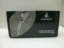 AQUABLISS HS300 6-SPRAY HAND SHOWER SET INCLUDING WATER SAVING MODE NEW IN BOX