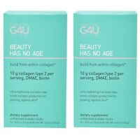 Naturally G4U Collagen Supplement 2 Boxes Lot 14 Packets Each New 3/22 Autnentkc