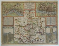 Middlesex: antique map by John Speed, 1611 (1st edition)