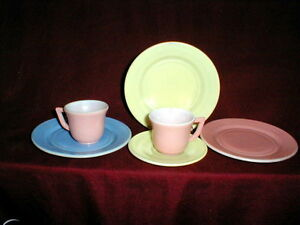 Depression Glass Hazel Atlas Child's Dishes 20th Century LITTLE HOSTESS Tea Set