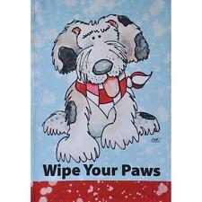 "Wipe Your Paws Dog 12.5"" X 18"" Garden Flag 27-2878-227 Flip It! Rain Or Shine"