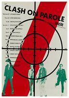 "Reproduction The Clash ""On Parole"" Poster, Joe Strummer, Home Wall Art"