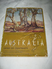 Australia ,Land of Contrasts 27 plates in colour Booklet by Ernestine Hill