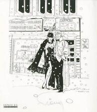 Ex-libris Sérigraphie Largo Winch Neige