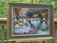 Framed Le Dinner 'A L' Hotel Ritz Paris Poster Print Signed Pierre Georges Jeann
