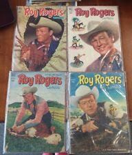 Dell Comics Lot - Roy Rogers Comics #55-#58 - July-Oct 1952 - Used