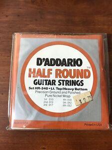 D'ADDARIO Guitar Strings Half Rounds Light Top Heavy Bottom HR340