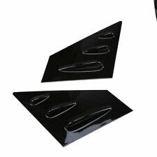 2x Carbon Fiber Rear Side Window Louver Cover Panel for Subaru WRX/STI 2015-2018