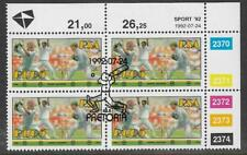 SOUTH AFRICA 1992 SPORTS CRICKET Block of 4 USED