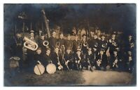 1908 RPPC Minnesota Marching Band Real Photo Postcard *6A2