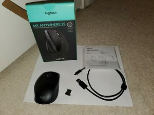 Logitech MX Anywhere 2S Wireless Mouse with receiver and box - Read Description