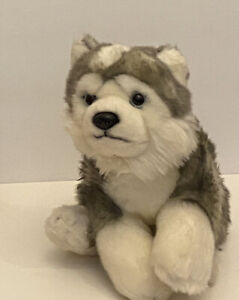 "Toys R Us Husky Dog Puppy Plush Stuffed Animal Blue Eyes 10"" Realistic"