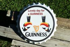 Lovely Day For A Guinness Beer Bottle Cap Tin Metal Sign - Dublin - Toucan