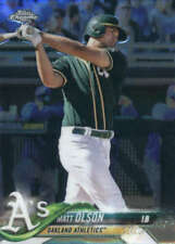 Matt Olson 2018 Chrome #64 Oakland Athletics BX F49SS