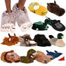 Mens Comfy Slip On Slippers Mules Bedroom Fun Novelty Animal House Indoor Mule