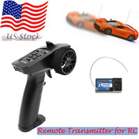 USA 2.4GHz 3CH Digital Radio Remote Control Transmitter Receiver for RC Car Boat