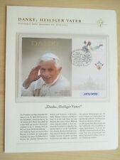 Gedenkbeleg pontificado benedicto xvi 2005-2013, en st. 4999 estrictamente limitado!!!