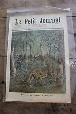 Petit journal illustrated no. 343 1897 tiger hunt meudon rescuer the of Douarnenez