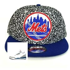 b319e10813492 New Era New York Mets 9fifty Snapback Hat For Jordan 3 Cement True Blue